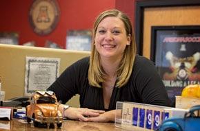Smiling Arizona Motor Vehicle Express employee